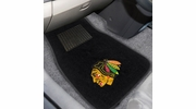 Fan Mats 17090  NHL - Chicago Blackhawks 2-pc Embroidered Car Mat Set