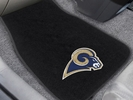 Fan Mats 17134  NFL - Los Angeles Rams 2-pc Embroidered Car Mat Set