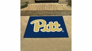 """Fan Mats 1714  University of Pittsburgh Panthers 33.75"""" x 42.5"""" All-Star Series Area Rug / Mat"""