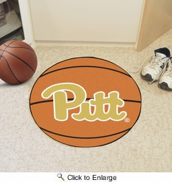 "Fan Mats 1715  University of Pittsburgh Panthers 27"" Diameter Basketball Shaped Area Rug"