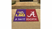 "Fan Mats 17150  LSU - Louisiana State Tigers vs Alabama Crimson Tide 33.75"" x 42.5"" House Divided Mat"
