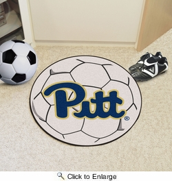 """Fan Mats 1716  University of Pittsburgh Panthers 27"""" Diameter Soccer Ball Shaped Area Rug"""