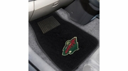 Fan Mats 17182  NHL - Minnesota Wild 2-pc Embroidered Car Mat Set