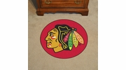 "Fan Mats 17216  NHL - Chicago Blackhawks 27"" diameter Puck Mat"