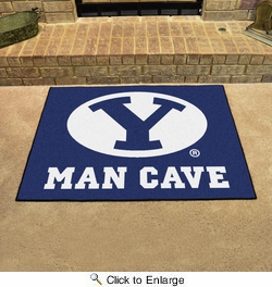 "Fan Mats 17254  Brigham Young University Cougars 33.75"" x 42.5"" Man Cave All-Star Mat"