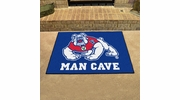 "Fan Mats 17262  Fresno State Bulldogs 33.75"" x 42.5"" Man Cave All-Star Mat"