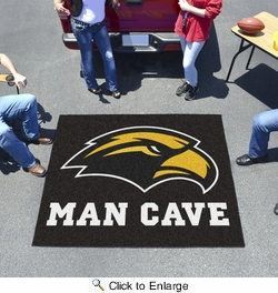 Fan Mats 17323  University of Southern Mississippi Golden Eagles 5' x 6' Man Cave Tailgater Mat