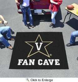Fan Mats 17347  Vanderbilt University Commodores 5' x 6' Fan Cave Tailgater Mat