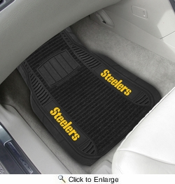 "Fan Mats 17391  NFL - Pittsburgh Steelers 21"" x 27"" Deluxe Car Mat Set"