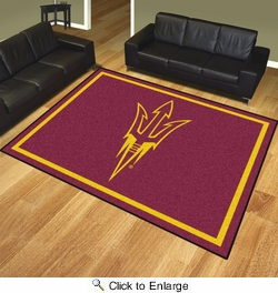 Fan Mats 17395  Arizona State University Sun Devils 8' x 10' Area Rug