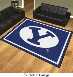 Fan Mats 17399  Brigham Young University Cougars 8' x 10' Area Rug