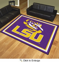Fan Mats 17408  Louisiana State University Tigers 8' x 10' Area Rug