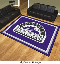Fan Mats 17419  MLB - Colorado Rockies 8' x 10' Area Rug