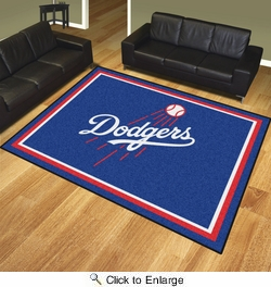 Fan Mats 17424  MLB - Los Angeles Dodgers 8' x 10' Area Rug