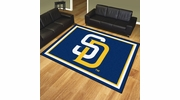 Fan Mats 17433  MLB - San Diego Padres 8' x 10' Area Rug