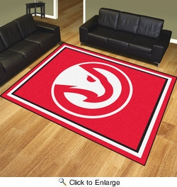 Fan Mats 17442  NBA - Atlanta Hawks 8' x 10' Area Rug