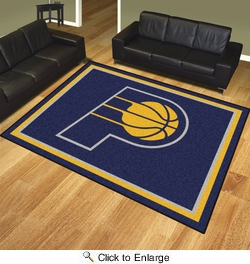Fan Mats 17453  NBA - Indiana Pacers 8' x 10' Area Rug