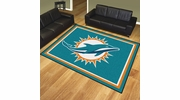 Fan Mats 17487  NFL - Miami Dolphins 8' x 10' Area Rug