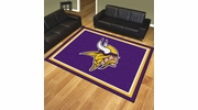 Fan Mats 17488  NFL - Minnesota Vikings 8' x 10' Area Rug