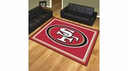 Fan Mats 17496  NFL - San Francisco 49ers 8' x 10' Area Rug