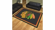 Fan Mats 17507  NHL - Chicago Blackhawks 8' x 10' Area Rug