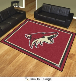 Fan Mats 17524  NHL - Arizona Coyotes 8' x 10' Area Rug