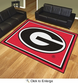Fan Mats 17552  University of Georgia Bulldogs 8' x 10' Area Rug