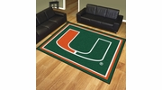 Fan Mats 17559  University of Miami Hurricanes 8' x 10' Area Rug