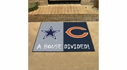 "Fan Mats 17592  NFL - Dallas Cowboys vs Chicago Bears 33.75"" x 42.5"" House Divided Mat"