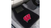 Fan Mats 17597  University of Wisconsin Badgers 2-pc Embroidered Car Mat Set