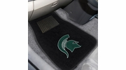 Fan Mats 17603  Michigan State University Spartans 2-pc Embroidered Car Mat Set
