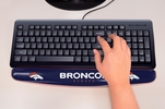 "Fan Mats 17717  NFL - Denver Broncos 2"" x 18"" Gel Wrist Rest"