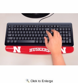 "Fan Mats 17757  University of Nebraska Cornhuskers 2"" x 18"" Gel Wrist Rest"