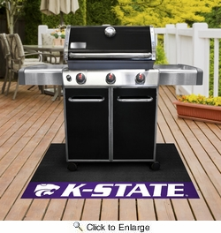 "Fan Mats 18099  Kansas State University Wildcats 26"" x 42"" Grill Mat"