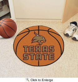 "Fan Mats 18109  Texas State University Bobcats 27"" diameter Basketball Mat"