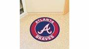"Fan Mats 18127  MLB - Atlanta Braves 27"" diameter Roundel Mat"