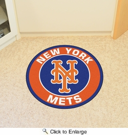 "Fan Mats 18143  MLB - New York Mets 27"" diameter Roundel Mat"