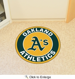 "Fan Mats 18145  MLB - Oakland Athletics 27"" diameter Roundel Mat"