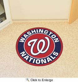 "Fan Mats 18155  MLB - Washington Nationals 27"" diameter Roundel Mat"