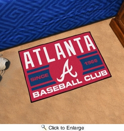 "Fan Mats 18460  MLB - Atlanta Braves Baseball Club 19"" x 30"" Starter Mat"