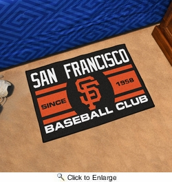 "Fan Mats 18482  MLB - San Francisco Giants Baseball Club 19"" x 30"" Starter Mat"