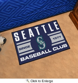 "Fan Mats 18483  MLB - Seattle Mariners Baseball Club 19"" x 30"" Starter Mat"