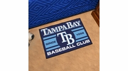 "Fan Mats 18485  MLB - Tampa Bay Rays Baseball Club 19"" x 30"" Starter Mat"