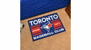"Fan Mats 18487  MLB - Toronto Blue Jays Baseball Club 19"" x 30"" Starter Mat"
