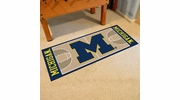 "Fan Mats 18506  University of Michigan Wolverines 30"" x 72"" NCAA Basketball Runner"