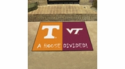 "Fan Mats 18597  Tennessee Volunteers vs Virginia Tech Hokies 33.75"" x 42.5"" House Divided Mat"