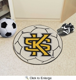 "Fan Mats 18657  Kennesaw State University Owls 27"" diameter Soccer Ball Mat"