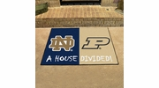 "Fan Mats 18678  Notre Dame Fighting Irish vs Purdue Boilermakers 33.75"" x 42.5"" House Divided Mat"