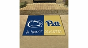 """Fan Mats 18680  Penn State Nittany Lions vs Pittsburgh Panthers 33.75"""" x 42.5"""" House Divided Mat"""