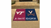 "Fan Mats 18685  Virginia Tech Hokies vs Virginia Cavaliers 33.75"" x 42.5"" House Divided Mat"